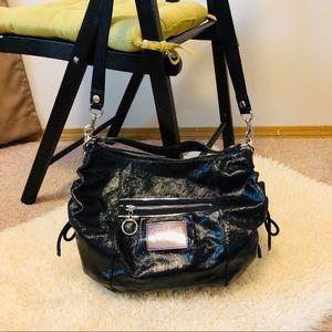 "Coach Poppy Black Patent leather bag 11""x 14"" x 4"""